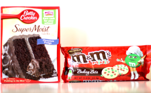 Chocolate Christmas M&M Cookies Recipe