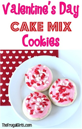 Valentine's Day Cake Mix Cookies Recipe