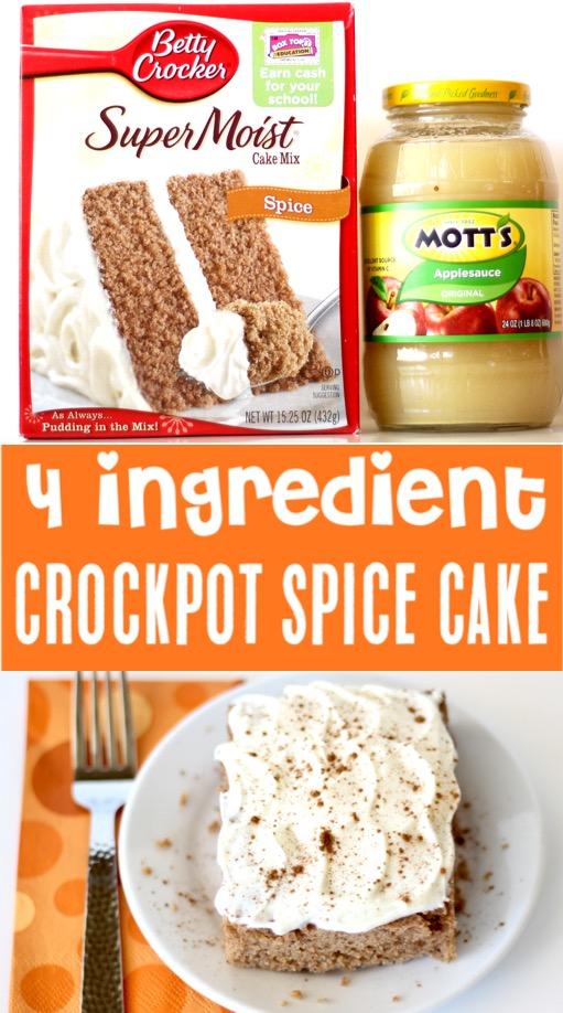 Cinnamon Cake Recipe with Box Cake - Easy Crockpot Spice Dessert