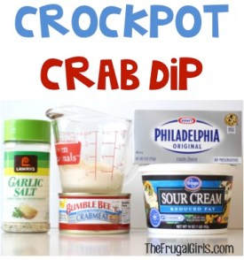 Crockpot Crab Dip Recipe at TheFrugalGirls.com