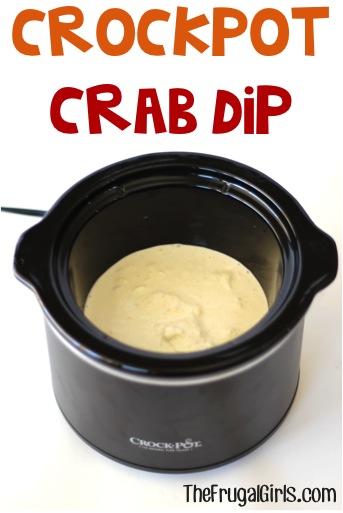 Crockpot Crab Dip Recipe - from TheFrugalGirls.com