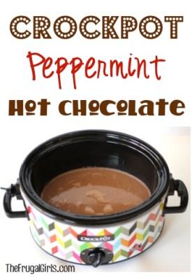 Crockpot Peppermint Hot Chocolate Recipe - from TheFrugalGirls.com
