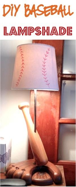 DIY Baseball Lampshade