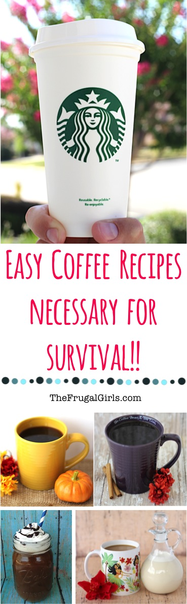 17 Easy Coffee Recipes at Home! {+ Coffee Tips} from TheFrugalGirls.com