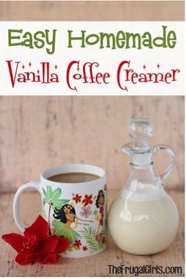Easy Homemade Vanilla Coffee Creamer