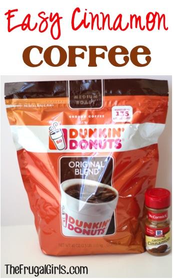 Hoememade Cinnamon Coffee Recipe at TheFrugalGirls.com