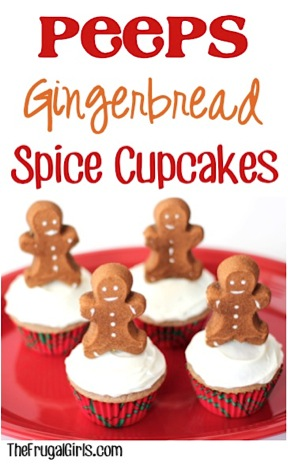 Peeps Gingerbread Spice Cupcakes