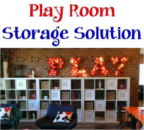 Play Room Storage Solution at TheFrugalGirls.com