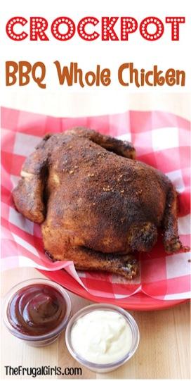 Crockpot BBQ Whole Chicken