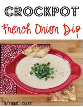 Crockpot French Onion Dip Recipe from TheFrugalGirls.com
