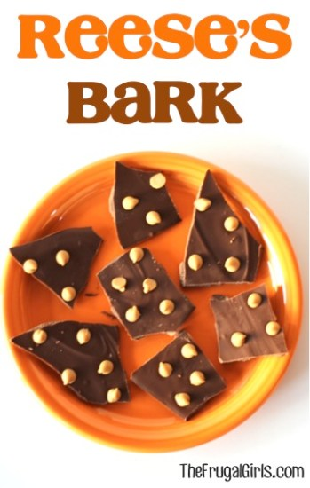 Reeses Bark Recipe - from TheFrugalGirls.com