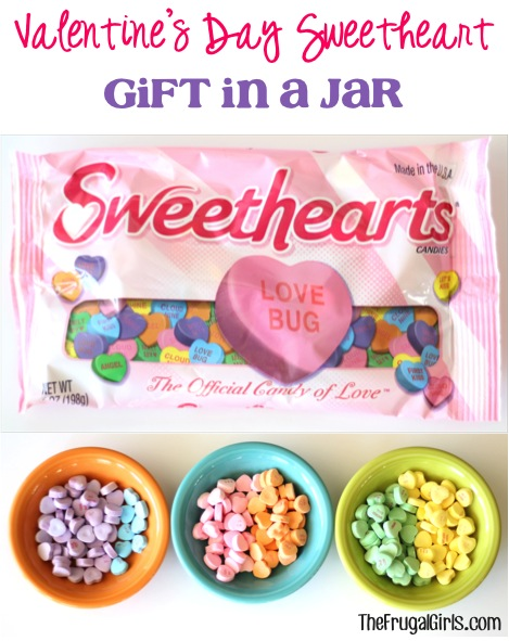 Valentines Day Sweetheart Gift in a Jar