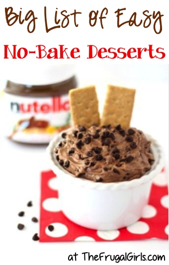No Bake Dessert Recipes from TheFrugalGirls.com