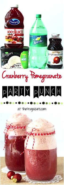 Cranberry Pomegranate Punch Recipe