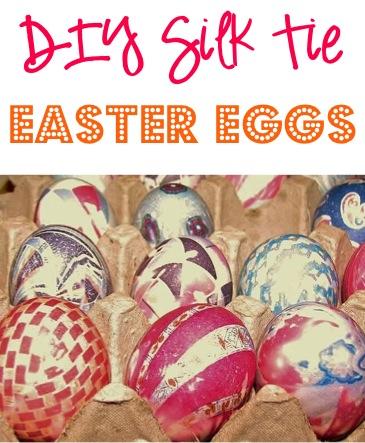 DIY Silk Tie Easter Eggs