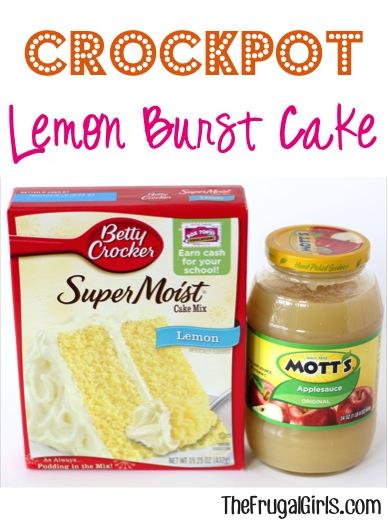 Crockpot Lemon Burst Cake Recipe at TheFrugalGirls.com
