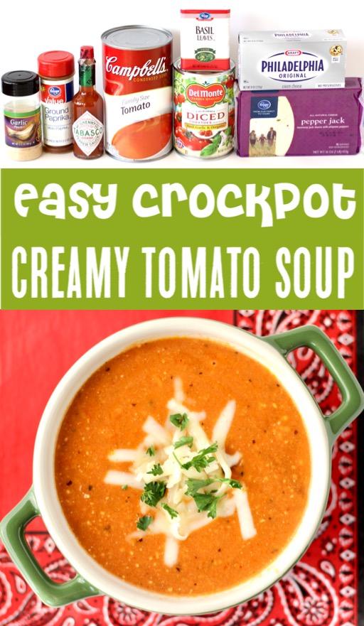 Crockpot Tomato Soup Recipes - Easy Creamy Pepper Jack Soup Recipe