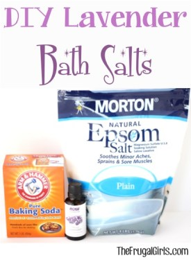 DIY Lavender Bath Salts at TheFrugalGirls.com