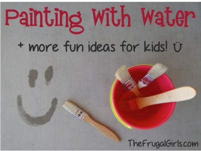 Painting With Water Summer Fun For Kids