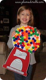 100th Day of School Project - Gumball Machine