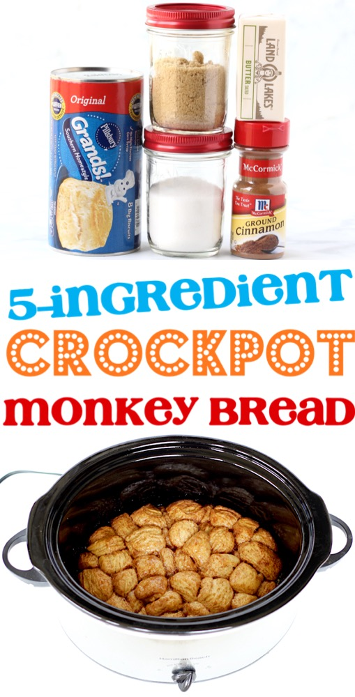 Monkey Bread Recipe with Canned Biscuits Recipe Easy Crockpot Breakfast or Dessert