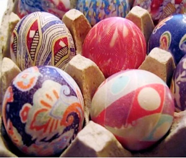 Silk Tie Easter Eggs Tutorial Easy