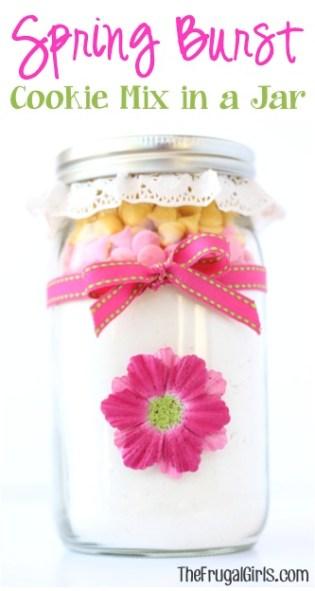 Spring Burst Cookie Mix in a Jar