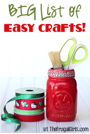 BIG List of Easy Crafts - at TheFrugalGirls.com