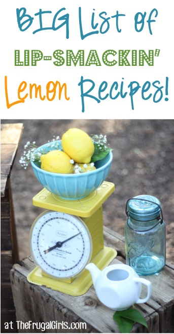 BIG List of Lip-Smackin' Best Lemon Recipes at TheFrugalGirls.com