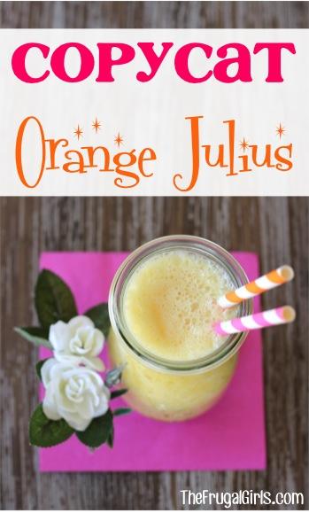 Copycat Orange Julius Recipe at TheFrugalGirls.com