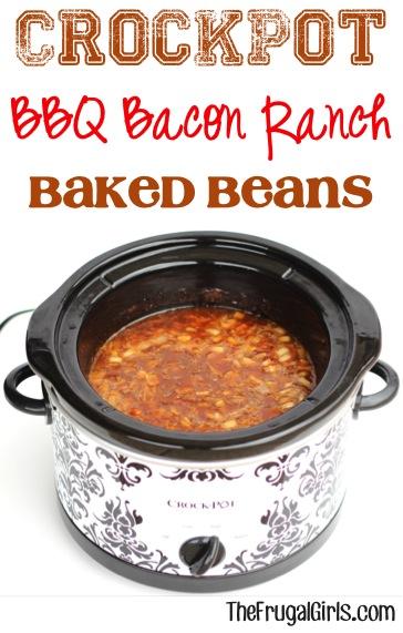 Crockpot BBQ Bean Recipe from TheFrugalGirls.com