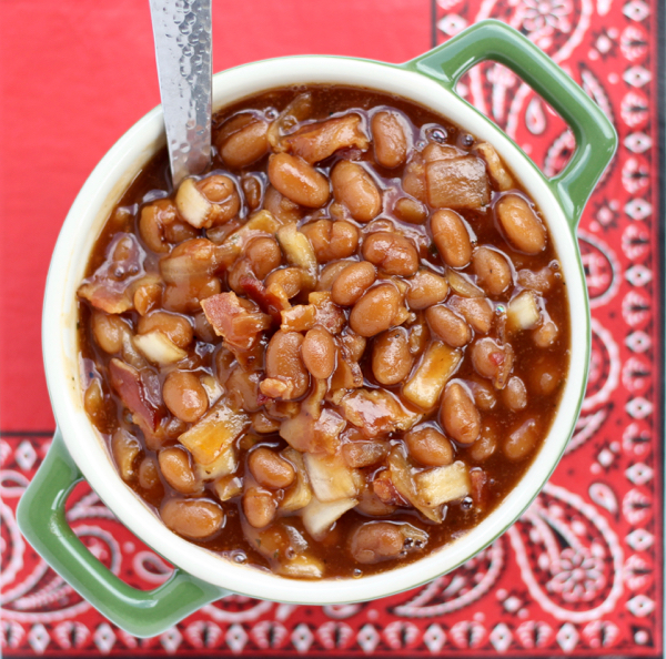 Crockpot BBQ Beans Recipe from TheFrugalGirls.com