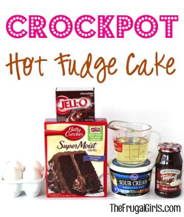 Slow Cooker Hot Fudge Cake Recipe at TheFrugalGirls.com