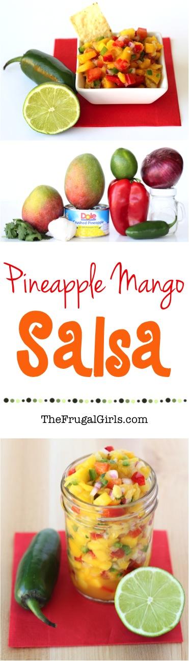 Mango Pineapple Salsa Recipe from TheFrugalGirls.com