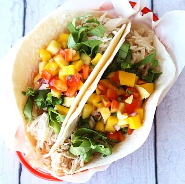 Mango Pineapple Salsa Tacos Easy