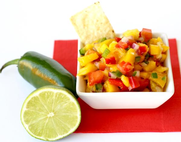 Pineapple Mango Salsa Recipe from TheFrugalGirls.com