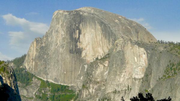 Yosemite Half Dome at Sunset from TheFrugalGirls.com