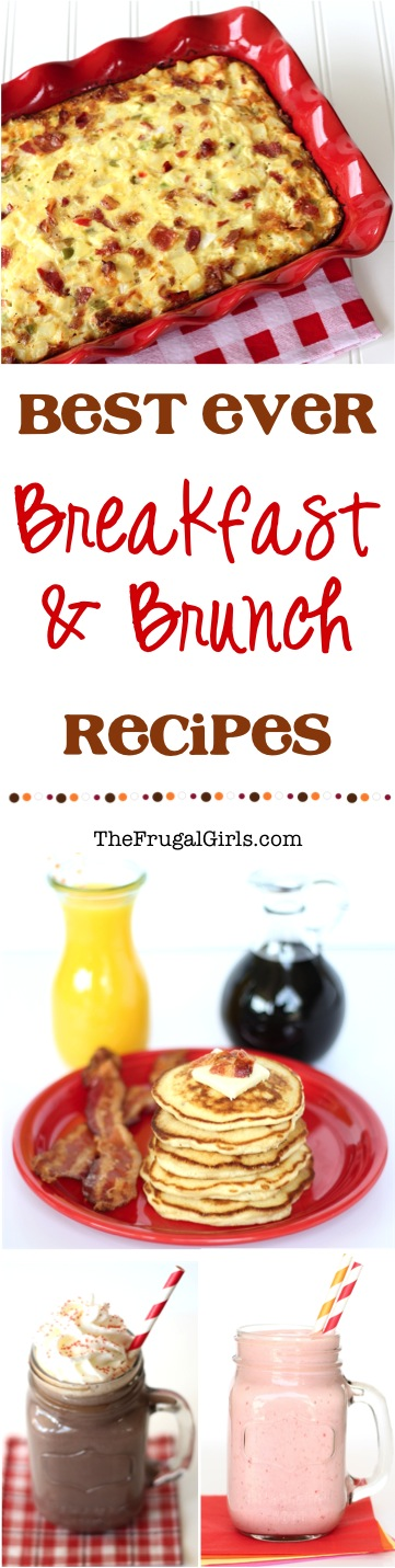 Easiest Breakfast Recipes from TheFrugalGirls.com