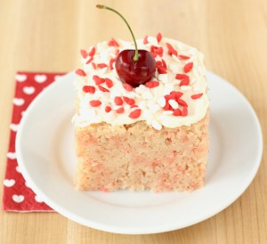 Cherry Chip Cake with Cream Cheese Frosting