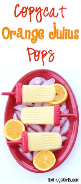Copycat Orange Julius Popsicles Recipe at TheFrugalGirls.com