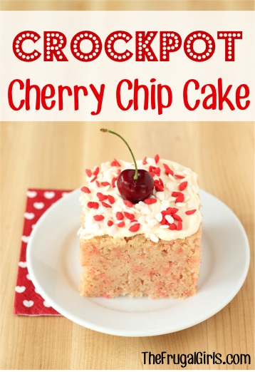 Crockpot Cherry Chip Cake Recipe at TheFrugalGirls.com