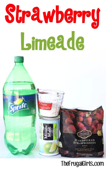 Strawberry Limeade Recipe - from TheFrugalGirls.com