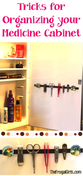 Easy Trick for Organizing your Medicine Cabinet from TheFrugalGirls.com