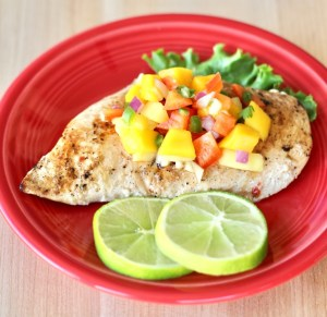 Mango Pineapple Salsa Chicken