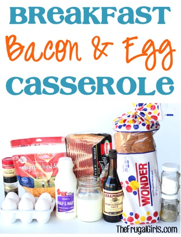 Breakfast Bacon and Egg Casserole Recipe at TheFrugalGirls.com