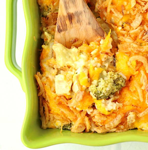 Cheesy Chicken Broccoli Rice Casserole Recipe