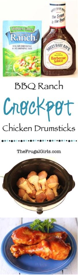 Crockpot BBQ Ranch Chicken Drumsticks Recipe