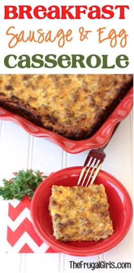 Overnight Breakfast Sausage and Egg Casserole Recipe