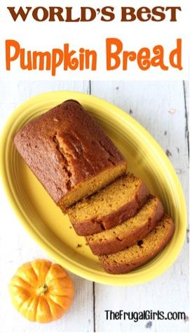 World's Best Pumpkin Bread Recipe