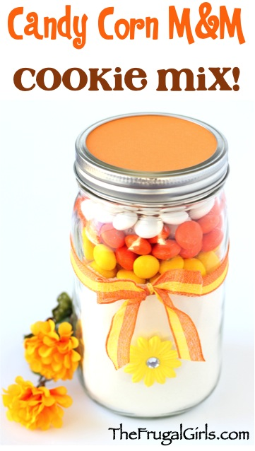 Candy Corn MM Cookie Mix in a Jar